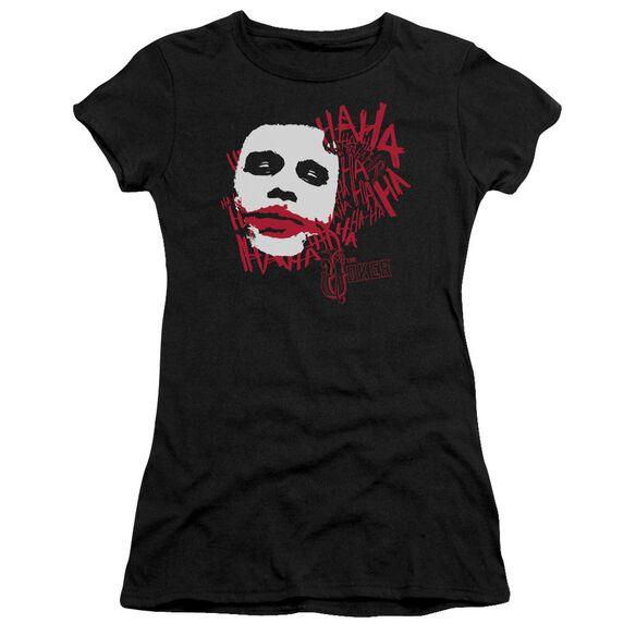 Dark Knight Whats So Funny Short Sleeve Junior Sheer T-Shirt