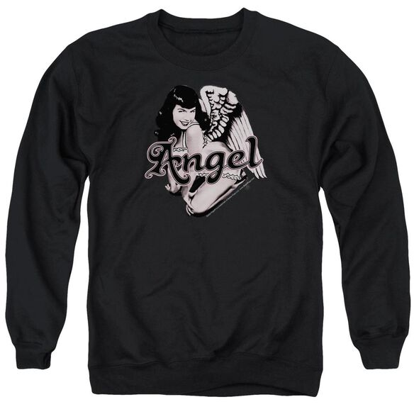 Bettie Page Bettie Angel Adult Crewneck Sweatshirt