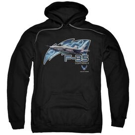 Air Force F35 Adult Pull Over Hoodie Black