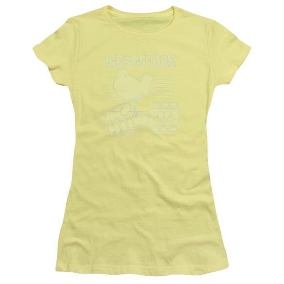Woodstock Liney Logo Short Sleeve Junior Sheer T-Shirt