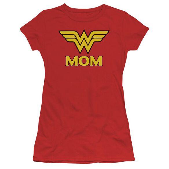 Dco Wonder Mom Short Sleeve Junior Sheer T-Shirt
