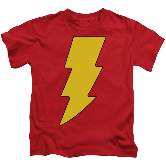 Dc Shazam Logo Short Sleeve Juvenile Red T-Shirt