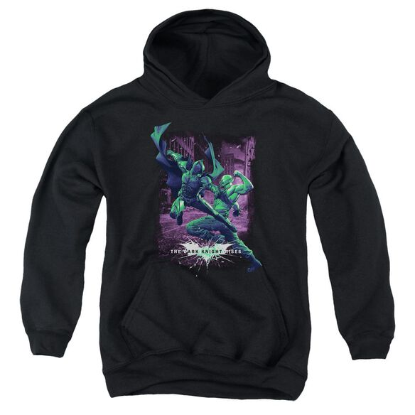 Dark Knight Rises Bat Vs Bane Youth Pull Over Hoodie