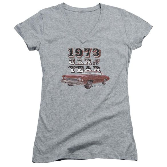 Chevrolet Car Of The Year Junior V Neck Athletic T-Shirt