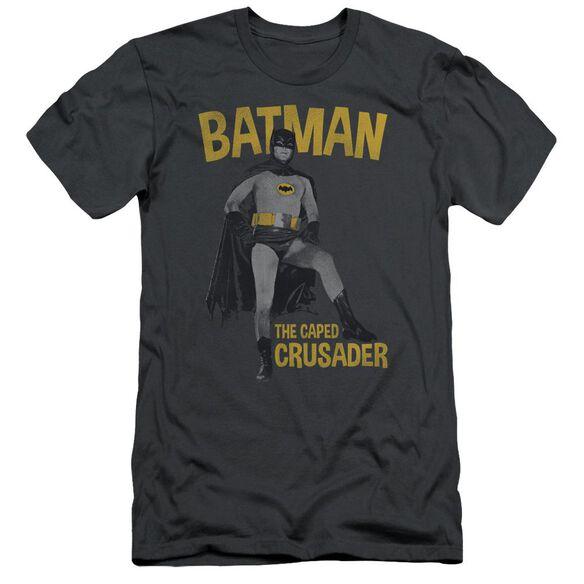 Batman Classic Tv Caped Crusader Short Sleeve Adult T-Shirt