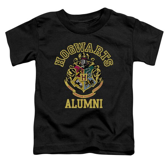 Harry Potter Hogwarts Alumni Short Sleeve Toddler Tee Black T-Shirt