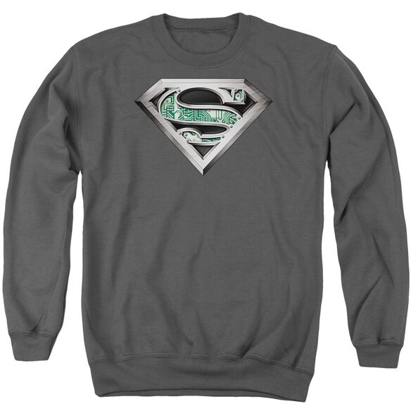 Superman Circuitry Logo Adult Crewneck Sweatshirt