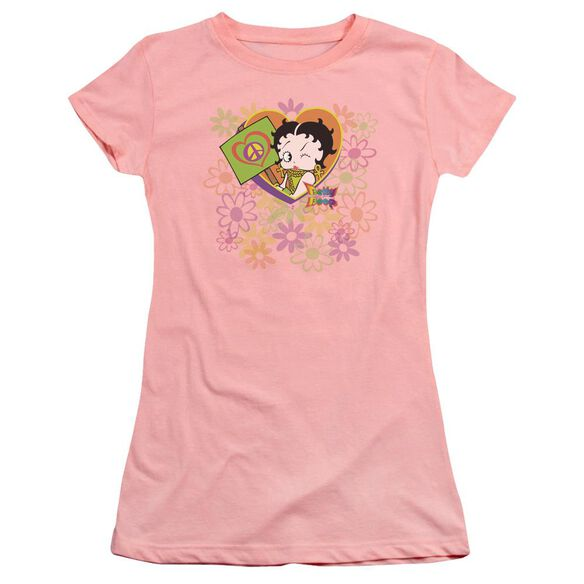 Betty Boop Peace Love And Boop Premium Bella Junior Sheer Jersey