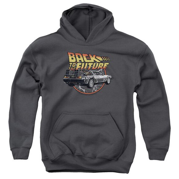 Back To The Future Time Machine Youth Pull Over Hoodie