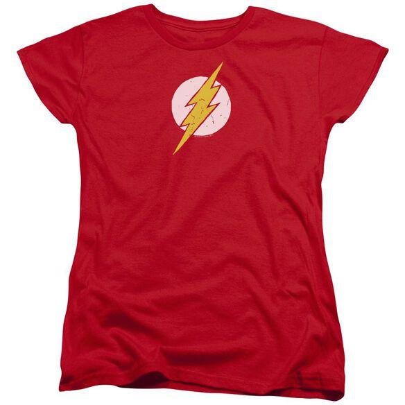 Jla Rough Flash Short Sleeve Womens Tee T-Shirt