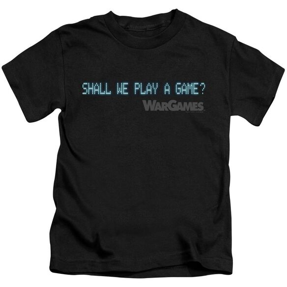 Wargames Shall We Short Sleeve Juvenile T-Shirt