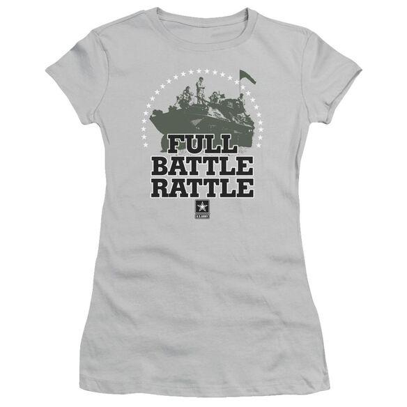 Army Full Battle Rattle Short Sleeve Junior Sheer T-Shirt