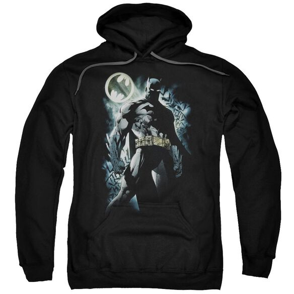 Batman The Knight Adult Pull Over Hoodie Black