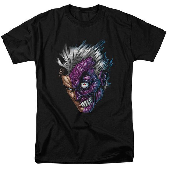 Batman Just Face Short Sleeve Adult T-Shirt
