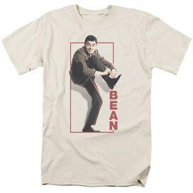 Mr Bean Tying Shoe Short Sleeve Adult Cream T-Shirt