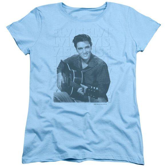 Elvis Presley Repeat Short Sleeve Womens Tee Light T-Shirt