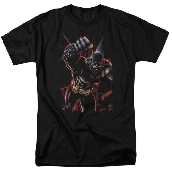BATMAN CRIMSON KNIGHT - S/S ADULT 18/1 - BLACK T-Shirt