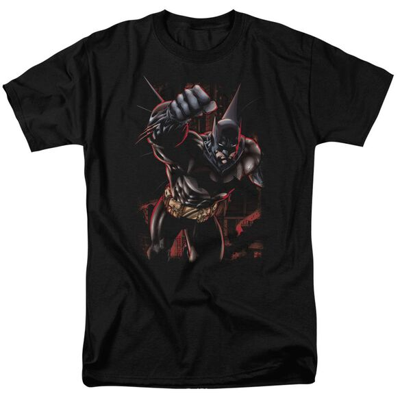 BATMAN CRIMSON KNIGHT-S/S ADULT 18/1 - BLACK T-Shirt