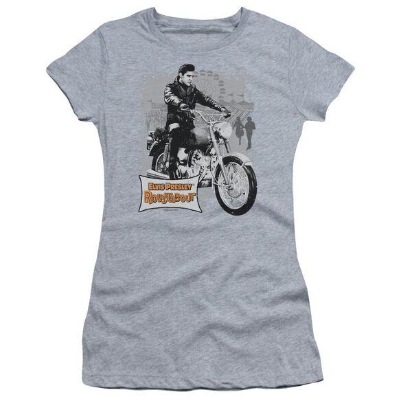 Elvis Roustabout Poster Short Sleeve Junior Sheer Athletic T-Shirt