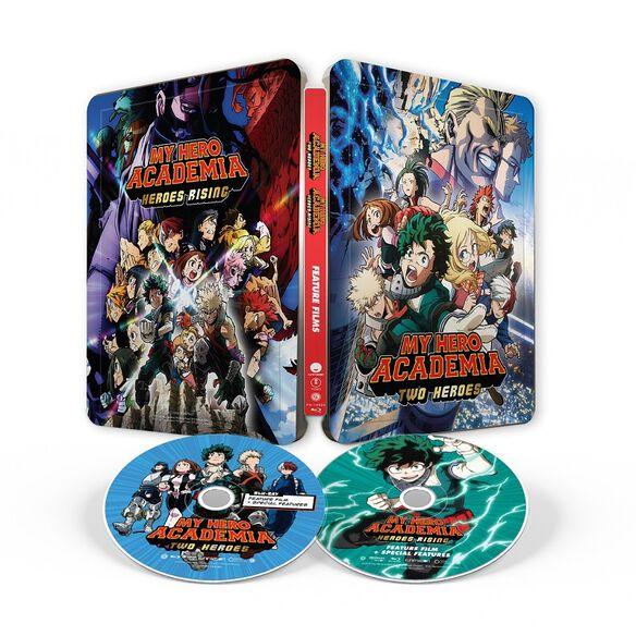 My Hero Academia Two Heroes & Heroes Rising 2 Movie FYE Exclusive Steelbook