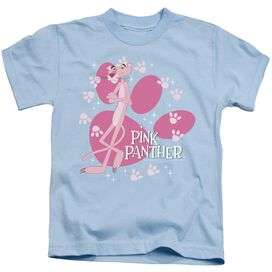 Pink Panther Walk All Over Short Sleeve Juvenile Light Blue Md T-Shirt