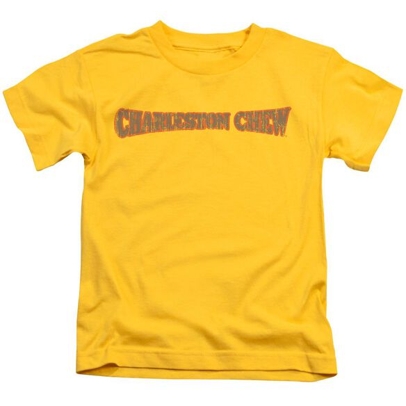 Tootsie Roll Charleston Chew Logo Short Sleeve Juvenile Yellow T-Shirt