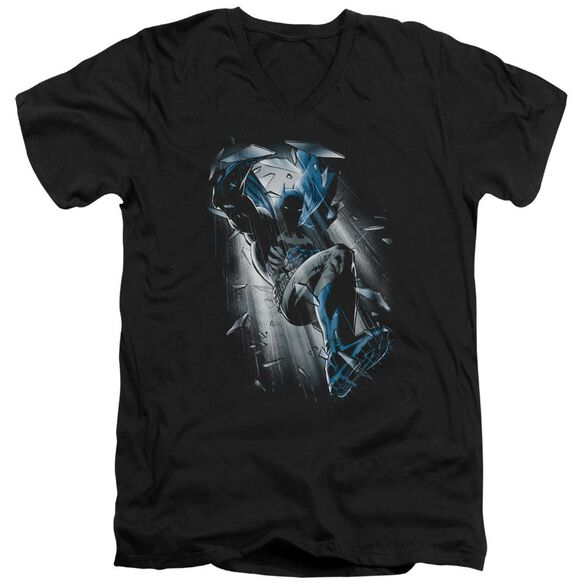 Batman Bat Crash Short Sleeve Adult V Neck T-Shirt