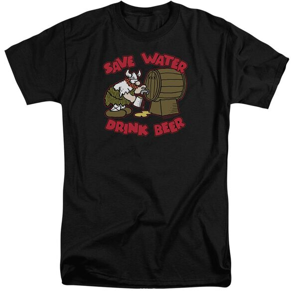 Hagar The Horrible Save Water Drink Beer Short Sleeve Adult Tall T-Shirt