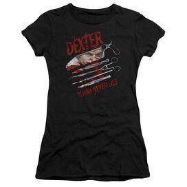 Dexter Blood Never Lies Short Sleeve Junior Sheer T-Shirt