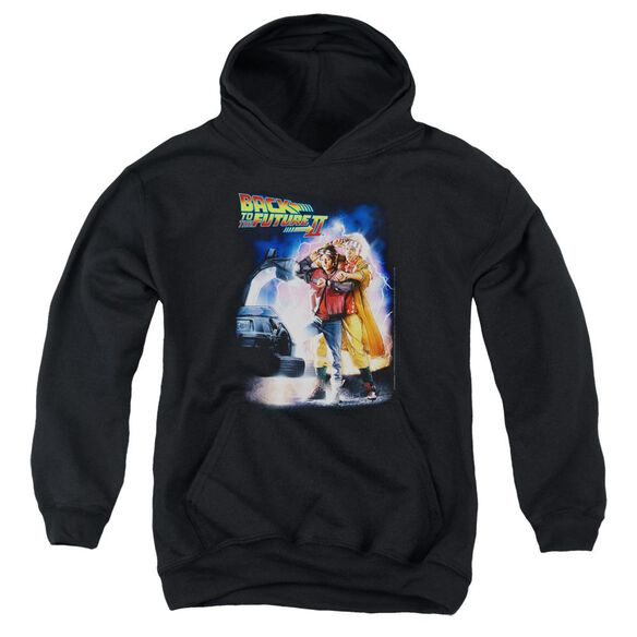 Back To The Future Ii Poster Youth Pull Over Hoodie