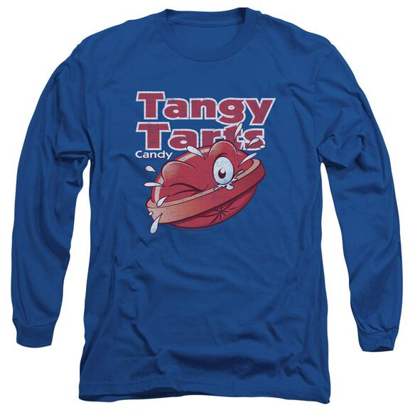 Dubble Bubble Tangy Tarts Long Sleeve Adult Royal T-Shirt