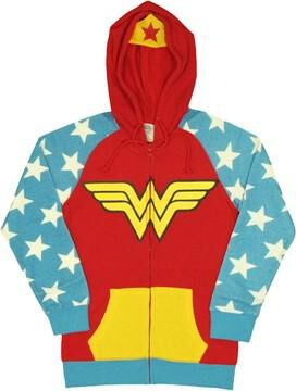 Wonder Woman Costume Suit Junior Hoodie