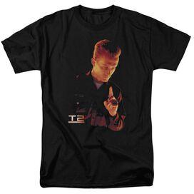 Terminator 2 T1000 Short Sleeve Adult Black T-Shirt