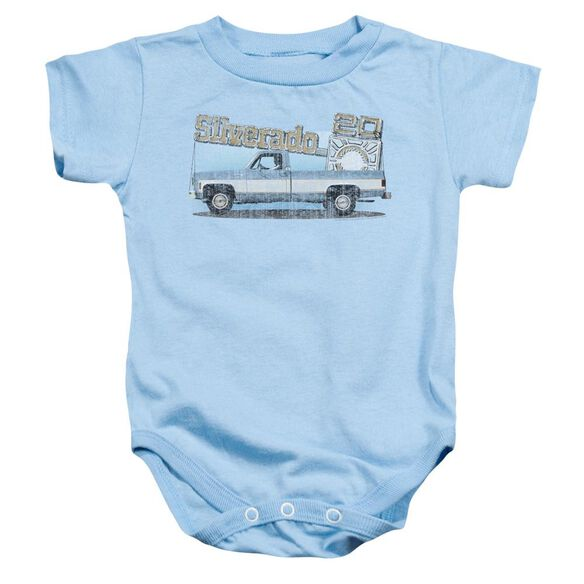 Chevrolet Old Silverado Sketch Infant Snapsuit Light Blue