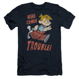 Dennis The Menace Here Comes Trouble Short Sleeve Adult T-Shirt