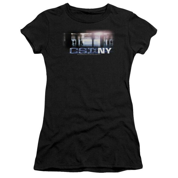 Csi New York Subway Short Sleeve Junior Sheer T-Shirt