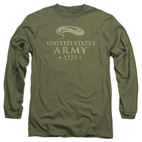 Army Well Defend Long Sleeve Adult Military T-Shirt
