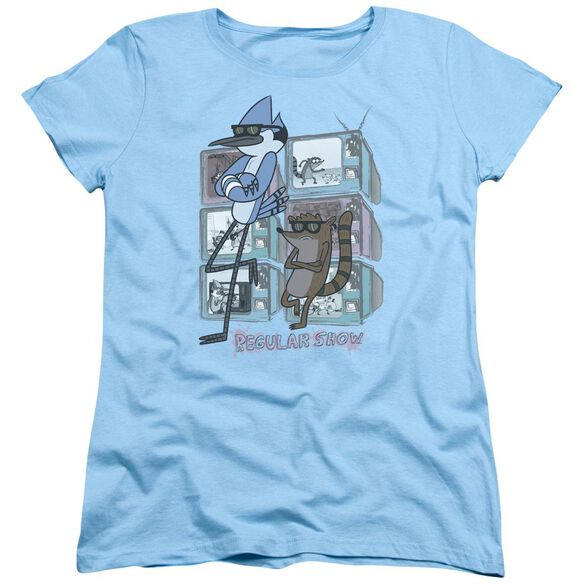 Regular Show Tv Too Cool Short Sleeve Womens Tee Light T-Shirt