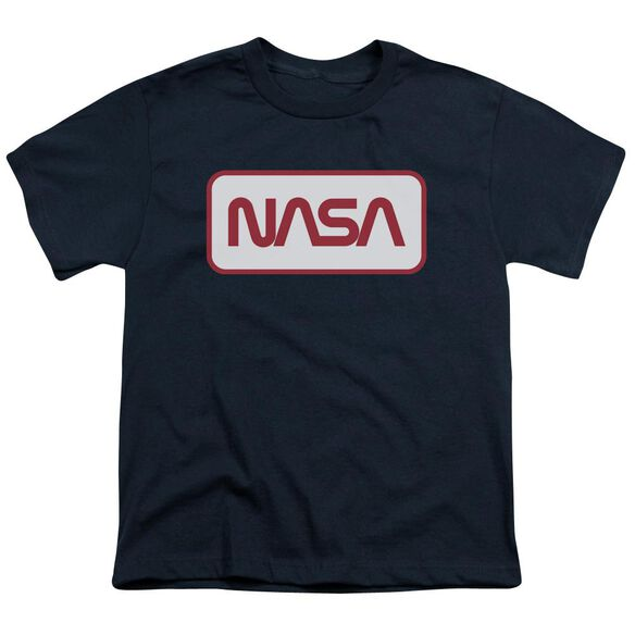 Nasa Rectangular Logo Short Sleeve Youth T-Shirt