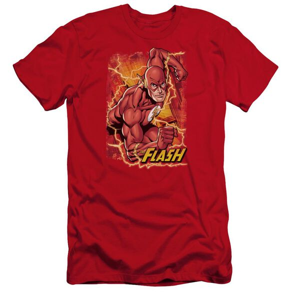 Jla Flash Lightning Premuim Canvas Adult Slim Fit