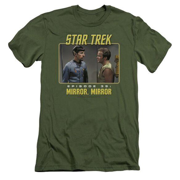 St Original Mirror Mirror Short Sleeve Adult Military T-Shirt
