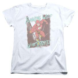 Jla Running Wild Short Sleeve Womens Tee T-Shirt
