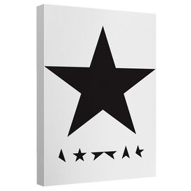 David Bowie Blackstar Canvas Wall Art With Back Board
