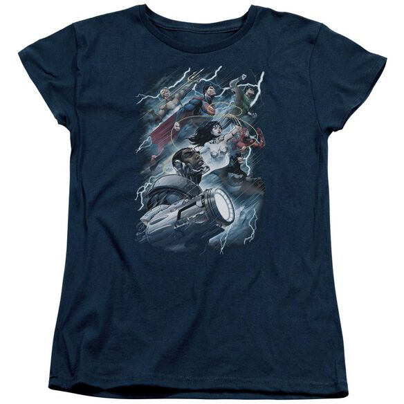 Jla Ride The Lightening Short Sleeve Womens Tee T-Shirt