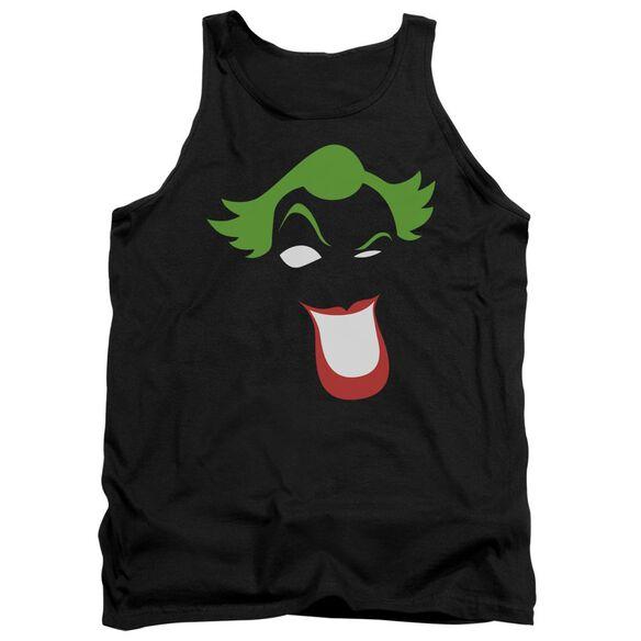 Batman Joker Simplified - Adult Tank - Black