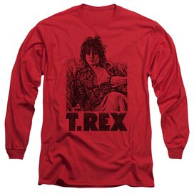 T Rex Lounging Long Sleeve Adult T-Shirt
