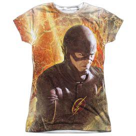 The Flash Flash Town Short Sleeve Junior Poly Crew T-Shirt