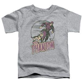 Phantom Phantom And Dog Short Sleeve Toddler Tee Athletic Heather T-Shirt