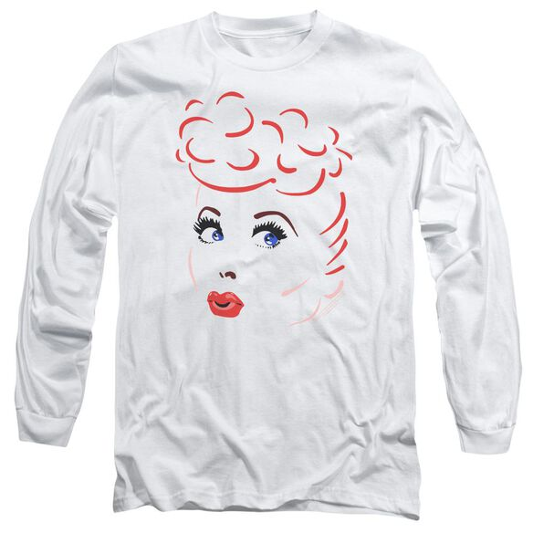I Love Lucy Lines Face Long Sleeve Adult T-Shirt