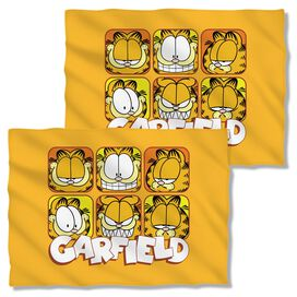 Garfield Faces (Front Back Print) Pillow Case White